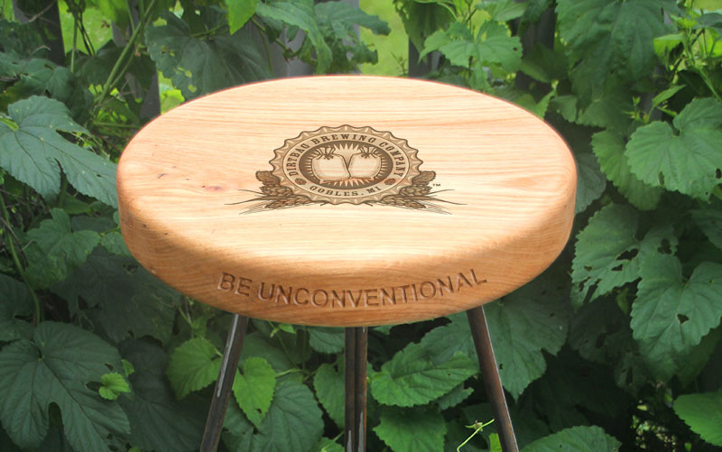 Dirtbag Brewing Company branded stool for purchase